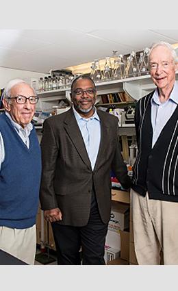 Dr. Edmond Fischer, Ronald Howell and Dr. Earl Davie